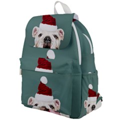 Santa Dog Top Flap Backpack