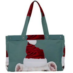 Santa Dog Canvas Work Bag