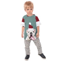 Santa Dog Kids  Raglan Tee