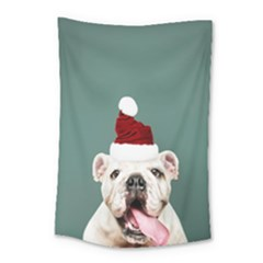 Santa Dog Small Tapestry