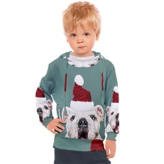 Santa Dog Kids  Hooded Pullover