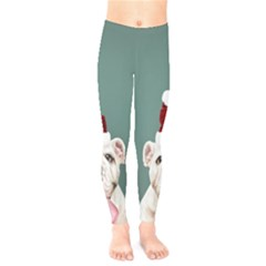 Santa Dog Kids  Leggings