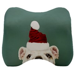Santa Dog Velour Head Support Cushion