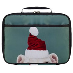 Santa Dog Full Print Lunch Bag