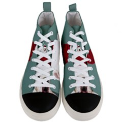 Santa Dog Men s Mid Top Canvas Sneakers