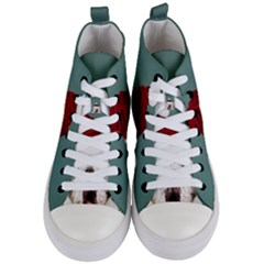 Santa Dog Women s Mid Top Canvas Sneakers