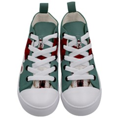 Santa Dog Kids  Mid Top Canvas Sneakers