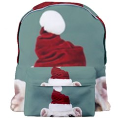 Santa Dog Giant Full Print Backpack