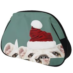 Santa Dog Full Print Accessory Pouch (big)