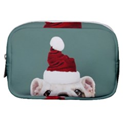 Santa Dog Make Up Pouch (small)