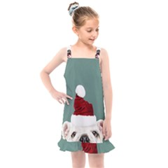 Santa Dog Kids  Overall Dress