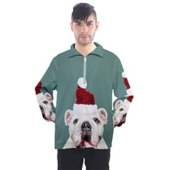Santa Dog Men s Half Zip Pullover