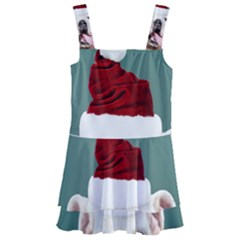 Santa Dog Kids  Layered Skirt Swimsuit