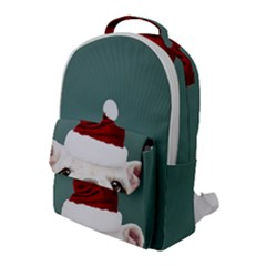Santa Dog Flap Pocket Backpack (large)