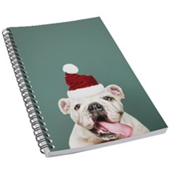 Santa Dog 5 5  X 8 5  Notebook