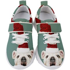 Santa Dog Kids  Velcro Strap Shoes