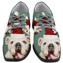 Santa Dog Women Heeled Oxford Shoes