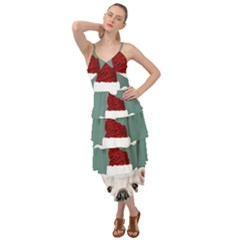 Santa Dog Layered Bottom Dress
