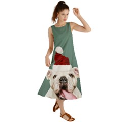 Santa Dog Summer Maxi Dress