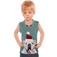 Santa Dog Kids  Mesh Tank Top
