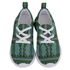 Rainforest Vines And Fantasy Flowers Running Shoes by pepitasart
