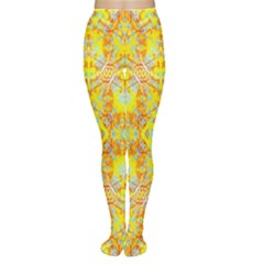 Vivid Warm Ornate Pattern Tights by dflcprintsclothing