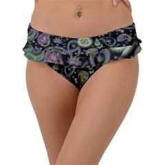 Paisley Frill Bikini Bottom by Lizzardfashion