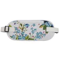 Blue Floral Print Rounded Waist Pouch