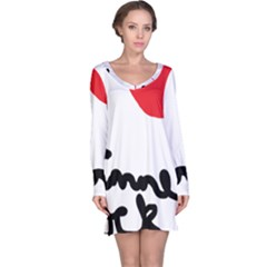 I Heart Chimney Rock Long Sleeve Nightdress by Majesticmountain
