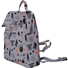 Slam Dunk Basketball Gray Buckle Everyday Backpack by mccallacoulturesports