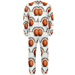 Orange Basketballs Onepiece Jumpsuit (men)  by mccallacoulturesports