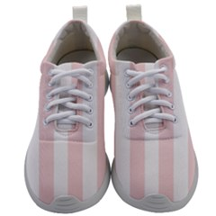 Pastel Pink Stripes Mens Athletic Shoes