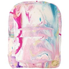 Marble Print Full Print Backpack