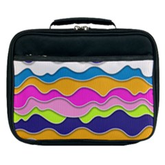 Bubble Liquid Print Lunch Bag