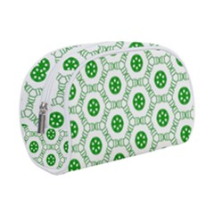 White Green Shapes Makeup Case (small)