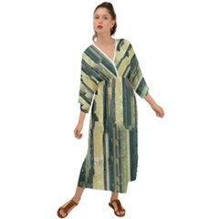 Texture Abstract Buildings Grecian Style  Maxi Dress