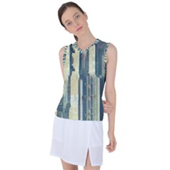 Texture Abstract Buildings Women s Sleeveless Sports Top