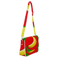 Banana Republic Flags Yellow Red Shoulder Bag With Back Zipper