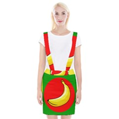 Banana Republic Flags Yellow Red Braces Suspender Skirt