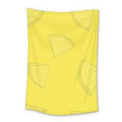 Yellow Pineapple Background Small Tapestry