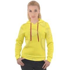 Yellow Pineapple Background Women s Overhead Hoodie