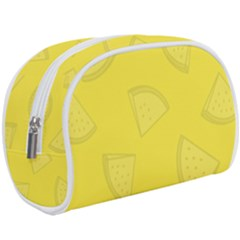 Yellow Pineapple Background Makeup Case (large) by HermanTelo