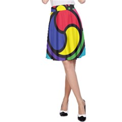 Colors Patterns Scales Geometry A-line Skirt