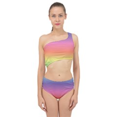 Rainbow Shades Spliced Up Two Piece Swimsuit by designsbymallika
