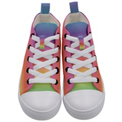 Rainbow Shades Kids  Mid Top Canvas Sneakers