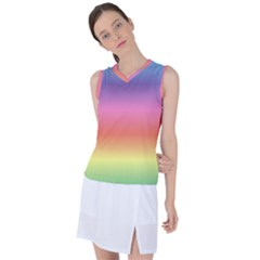 Rainbow Shades Women s Sleeveless Sports Top by designsbymallika