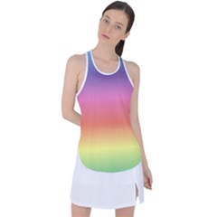 Rainbow Shades Racer Back Mesh Tank Top