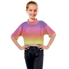 Rainbow Shades Kids Mock Neck Tee