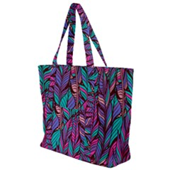 Boho Chic Pattern Zip Up Canvas Bag