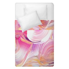 Pink Paint Brush Duvet Cover Double Side (single Size)